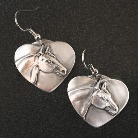 Quarter Horse Heart Earrings