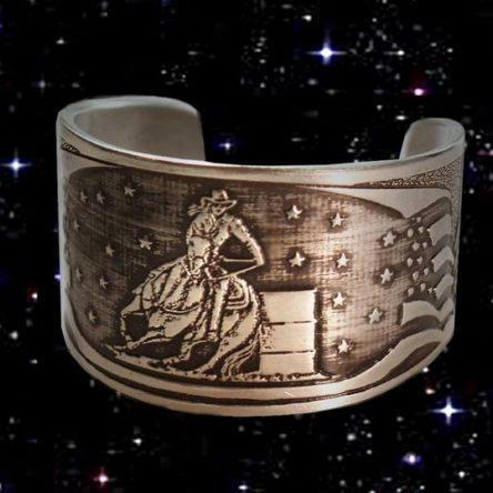 AQH Barrel Racer Cuff Bracelet