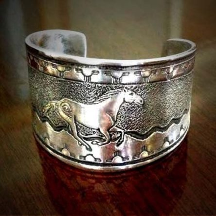 Native Spirit Horse Cuff Bracelet