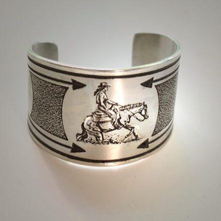 Western Reining Horse Cuff Bracelet